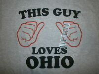 This Guy Loves Ohio T Shirt Who Thumbs State Cleveland Cincinnati Columbus