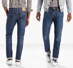 Levi's Mens 511 Slim Fit Selvedge Jeans Sz 29 x 31 in Stag Dark Distressed Tight
