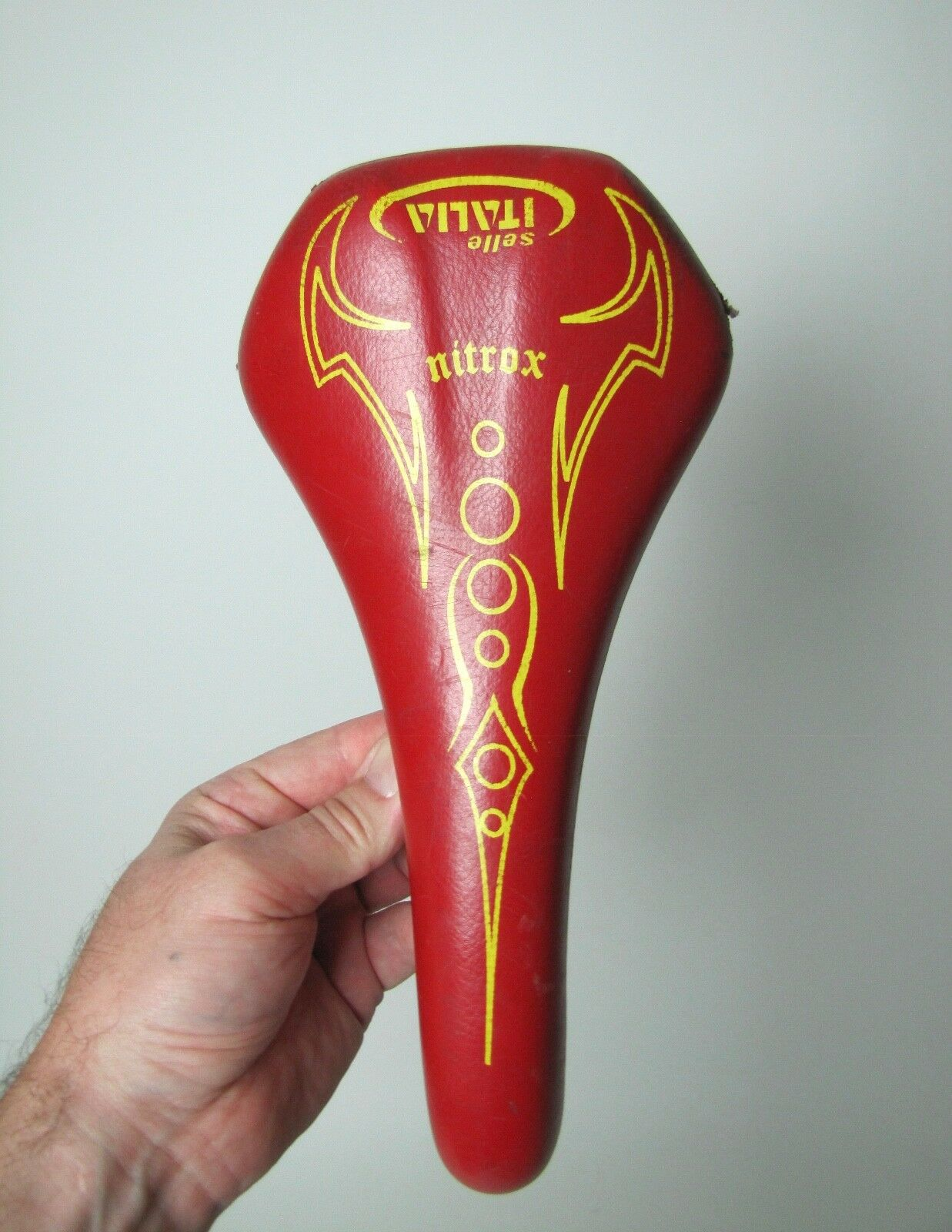 Vintage Red Selle Italia Nitrox bike  seat Road Bike  with 100% quality and %100 service
