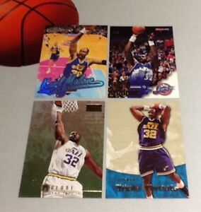 wholesale dealer 320a9 6a0f0 Details about Karl Malone 4-card Lot NBA Basketball Trading Cards -  All-Star/HOF