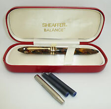 Sheaffer Balance II Amber Glow Fountain Pen, F 14k Nib