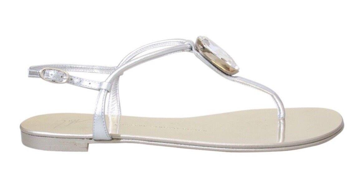 NEW   GIUSEPPE ZANOTTI ZANOTTI ZANOTTI 10 Infradito Embellished T-Strap Sandals (NIB New in Box) 2e6c5f