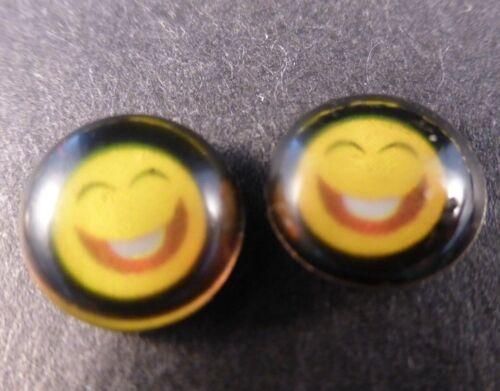 dejar que la gente sepa cómo se siente!!! Pequeño emoji//Emoticon Aretes.