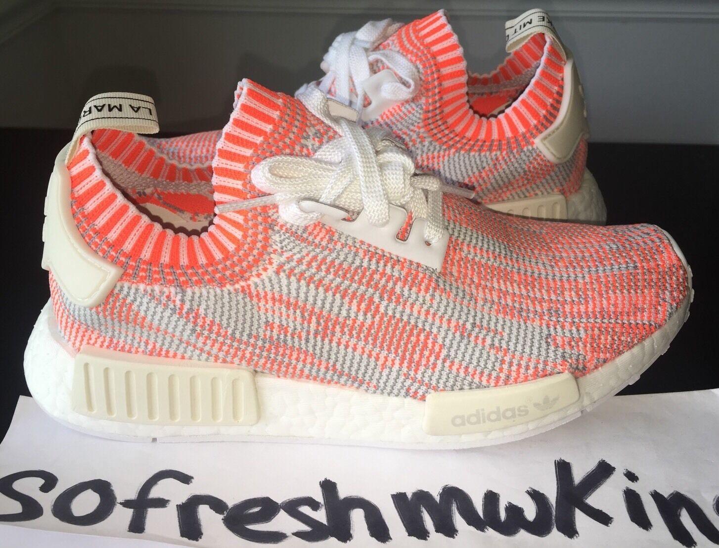 Adidas Nmd R1 Pk White Red Pink Camo Sz 8! Ba8599 Glitch Grey Primeknit Zebra