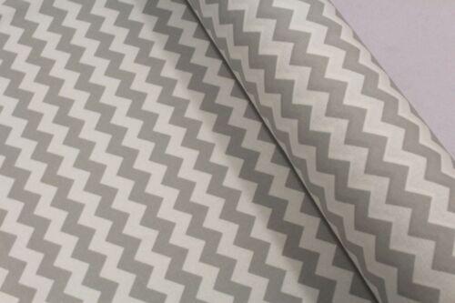 """Coton ameublement toile tissu taches Dot chevron gris clair 45/"""" Haute Qualité"""