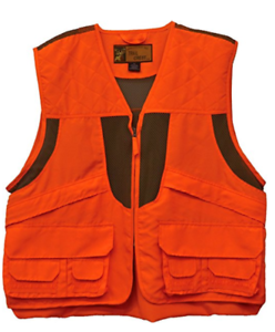 DELUXE Adult 2XL orange HUNTING VEST Safety Blaze Game Bag Front Loading NEW