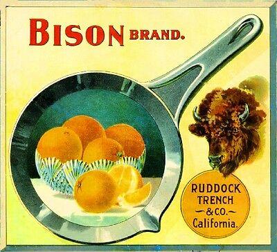 Pasadena Los Angeles Arroyo Breakfast Orange Citrus Fruit Crate Label Art Print