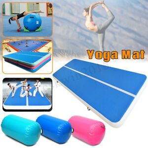 Image is loading 100x85CM-Inflatable-Gymnastics-Mat -Air-Rolls-Balance-Training-