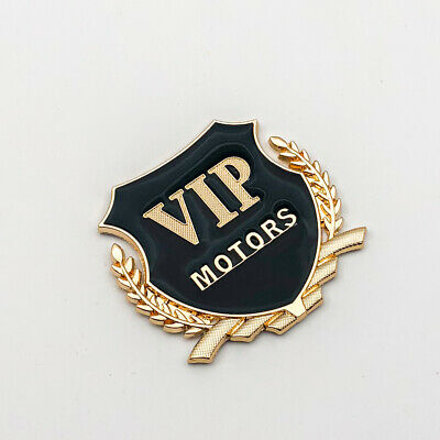 3D Metal Matte black VIP Logo Emblem For Side Door Fender Badge Sticker Decal