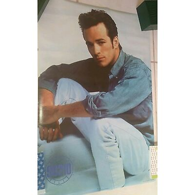 1991 STARMAKERS OSP LUKE PERRY 90210 ACTOR NEVER OPENED SEALED POSTER RARE