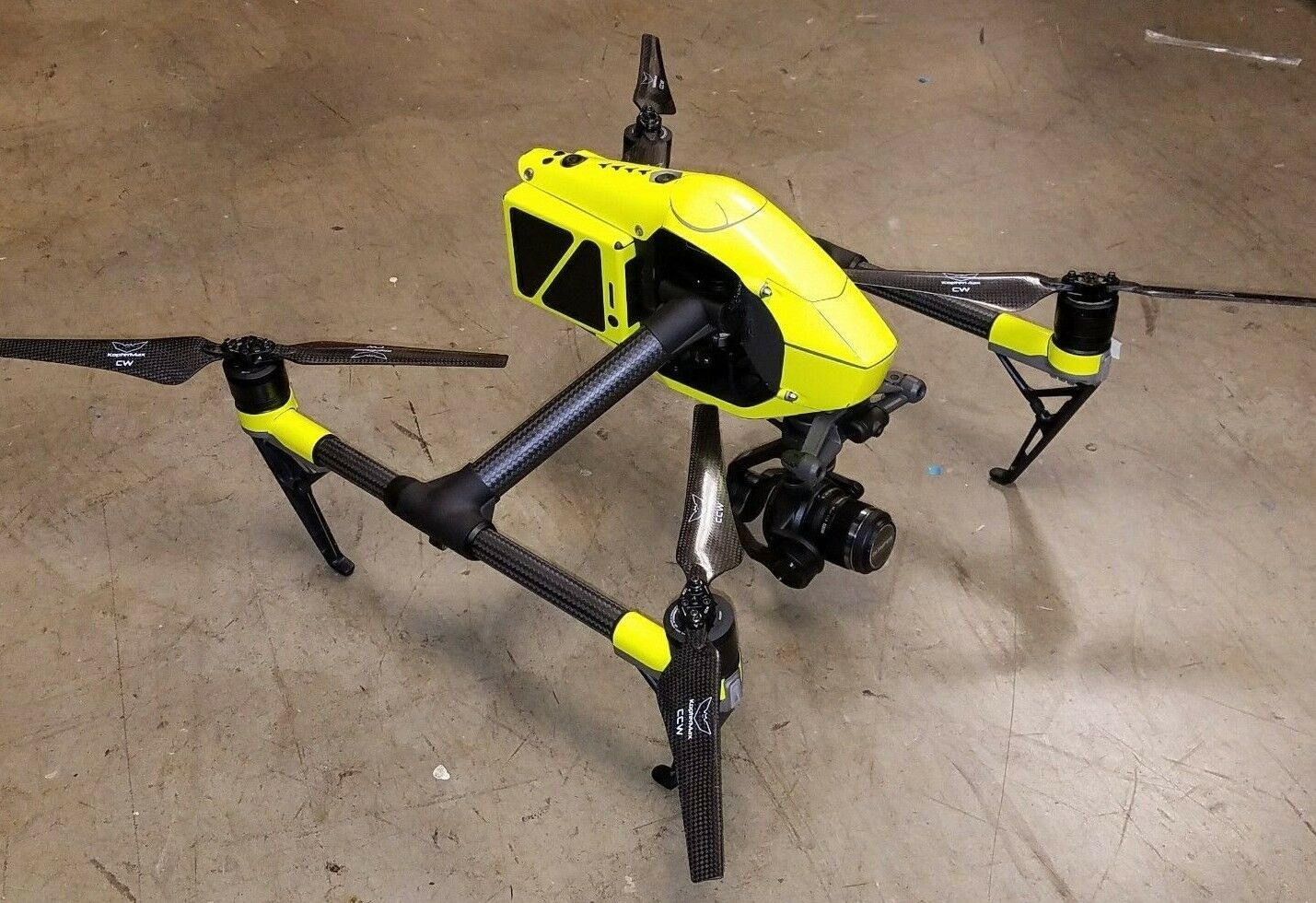 DJI Inspire 2 Fluorescent Hi-Glow Yellow  vinyl skin   wrap   decal, UK made