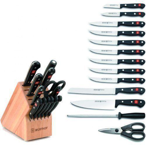New-Wusthof Gourmet 14-piece Knife Block Set - 9314