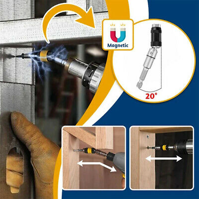 Steel Impact Magnetic Pivoting Bit Tip Holder Swivel Screw Drill Accessory Bits