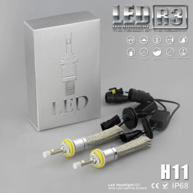 2017 80W 9600LM Car Fanless CREE XHP-50 LED Headlight Kit H8 H11 H9 6000K Bulbs