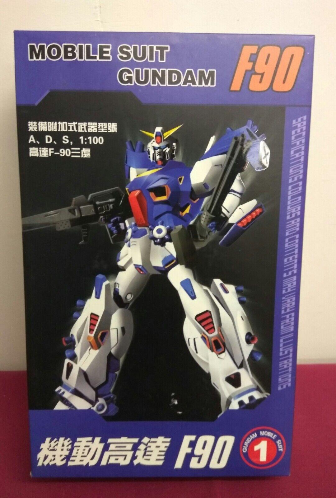 Mobile Suit Gundam F90. F-90 Gundam Mobil Suit. 1 100. New and Unused Set.
