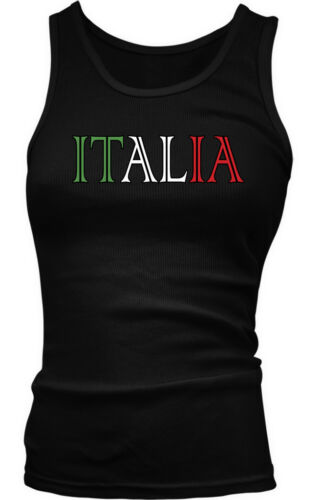 Italy European Country Italia Country Text Paisano Colored Boy Beater Tank Top