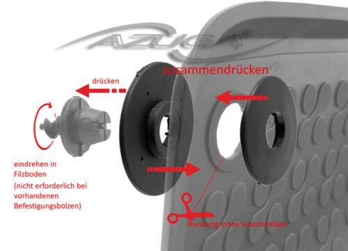 3D Gummi-Fußmatten Gummimatten für Mercedes V-Klasse//Vito ab 2014 W447