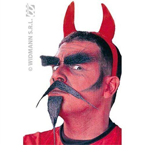 Devil Barbe//Tash Set CRAZY FANTAISIE Faux Faux Moustaches Barbes favoris ETC