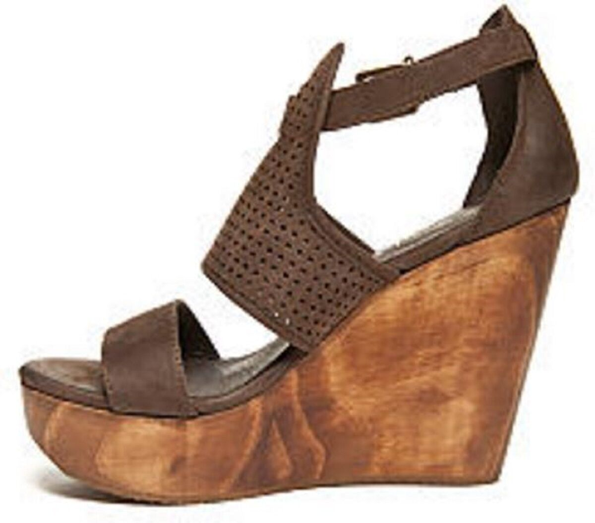Women's Five Worlds by Nubuck Cordani DORADO Platform Wedge Sandal Nubuck by Chocolate 429dc9