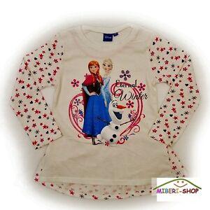Disney Frozen Eiskönigin Elsa Rosa  Langarmshirt  Sweatshirt T-Shirt Gr 104 Neu
