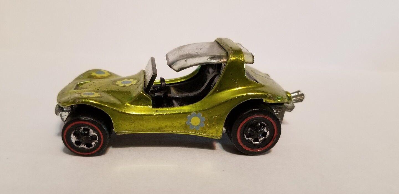 Hot Wheels Mattel Anticongelante verde Lima Arena Cangrejo rojoline 1970 U.s.a