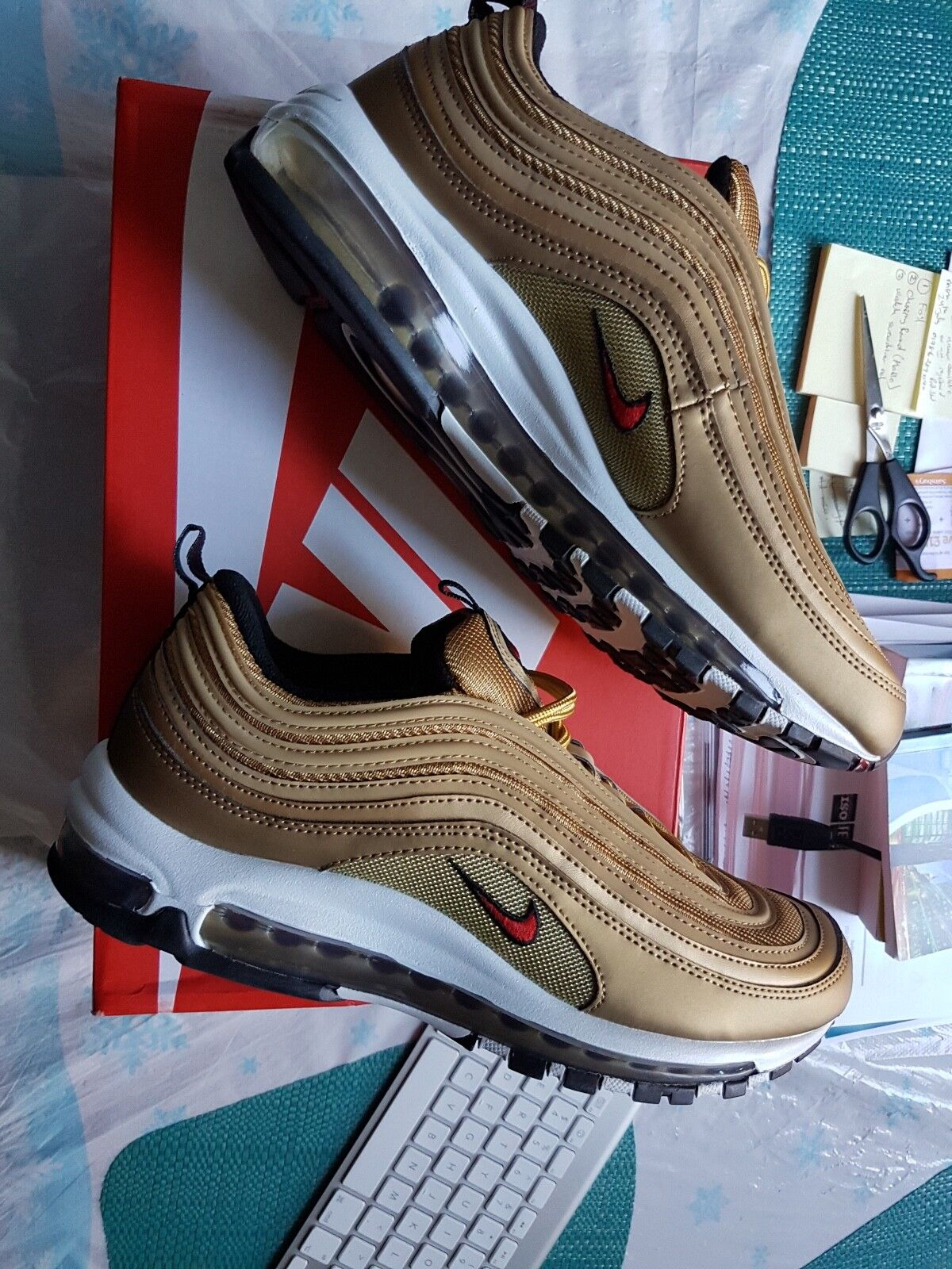 Nike Air Max 97 OG QS gold Bullet UK 8.5