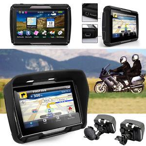 GPS-Bluetooth-Navigationsgeraet-Reise-8GB-4-3-Zoll-TFT-Motorrad-Bike-Lkw-Bus-Auto