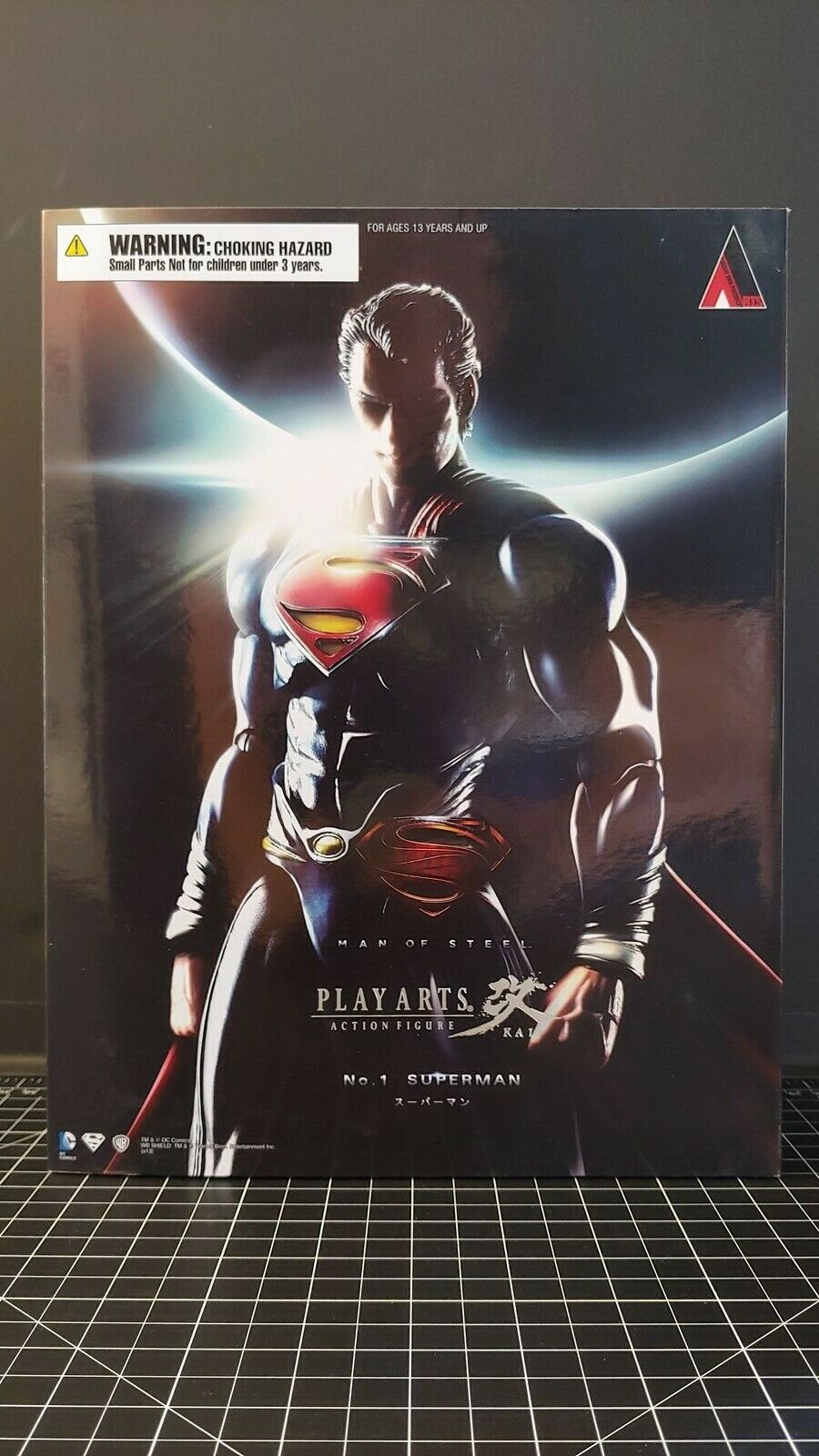 Spela Arts Kai Man av Steel SUPERMAN Action Figur DC Comics NIB