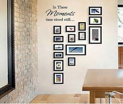 IN THESE MOMENTS TIME STOOD STILL VINYL WALL DECAL PICTURE LETTERING WALL WORDS
