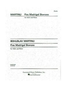 Bohuslav Martinu Cinq Madrigal Strophes Violon Piano Accompaniment Music Book-afficher Le Titre D'origine Vigrxo4f-07174123-575615728