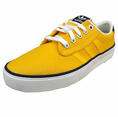 adidas Originals Men's Kiel Canvas Trainers Yellow