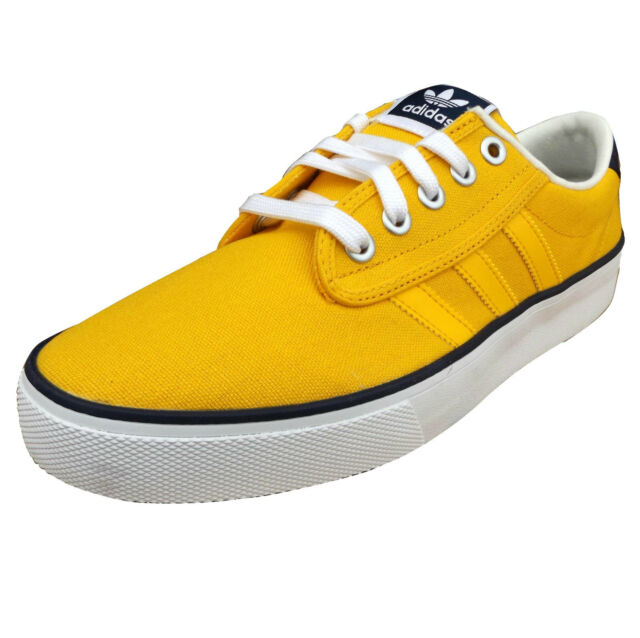 adidas Originals Men's Kiel Canvas Trainers Yellow