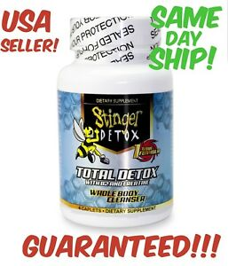 Stinger-Total-Detox-WHOLE-BODY-Cleanser-4-Caplets-PILLS-CLEAN-Cleanse-Flush