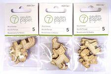 ** Studio Calico BAXTER 15 Die Cut Wood Veneer DOGS - SCRAPBOOKING - Crafts