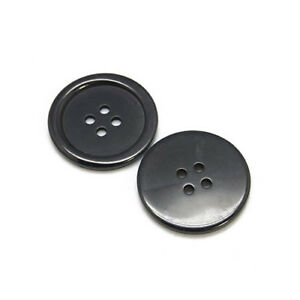 Packet-20-x-Black-Resin-20mm-Round-4-Holed-Sew-On-Buttons-HA10725