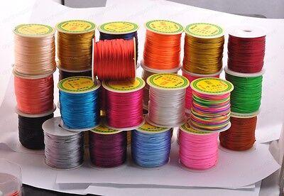 1Roll 50Yards Nylon Cord Thread Chinese Knot Macrame Bracelet Braided Cord 2MM