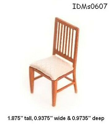1:24 SCALE WALNUT CHAIR DOLLHOUSE MINIATURES Heirloom Collection