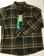 XXL NWT Orvis Men/'s heavyweight flannel shirt w//hand warmer pockets Green Plaid