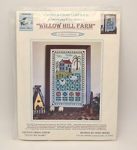 Linda Myers Willow Hill Farm Counted Cross Stitch Kit Americana Farm Series NEW