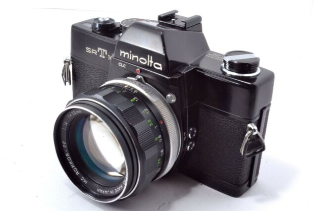 Minolta SRT101 Film Camera MC ROKKOR PF 1:1.4 f=58mm