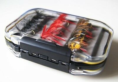 New Double Side Waterproof Fly Box Packed w/ 30 Assorted Nymphs Trout Flies Lb23