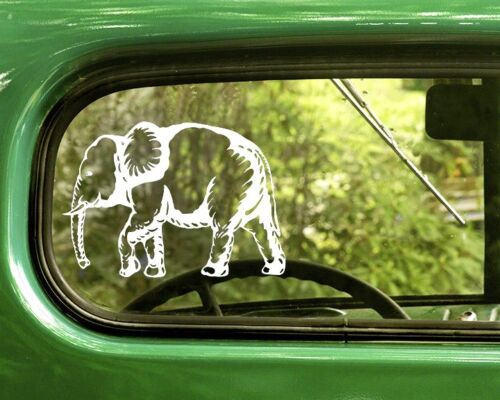 2 ELEPHANT DECAL Stickers For Car Window Truck Bumper Laptop RV Jeep