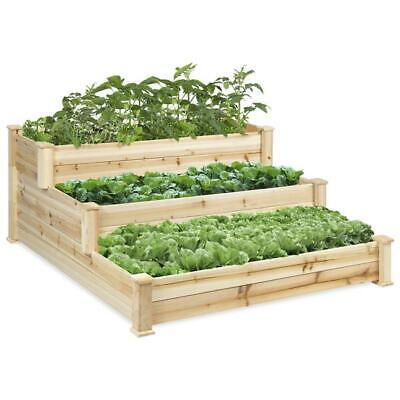 New Stair Step Design Outdoor Gardner Plants 3 Tier Garden Planter