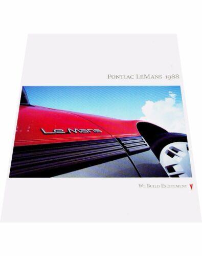 Daewoo Motors 1988 Pontiac LeMans Original Car Sales Brochure Catalog