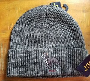 fe85e2851fb0f RALPH LAUREN POLO FRENCH BULLDOG WATCH CAP BEANIE SKI HAT Skull Cap ...