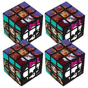 Monster high puzzle cubes 4 birthday party supplies for Backyard party decoration crossword