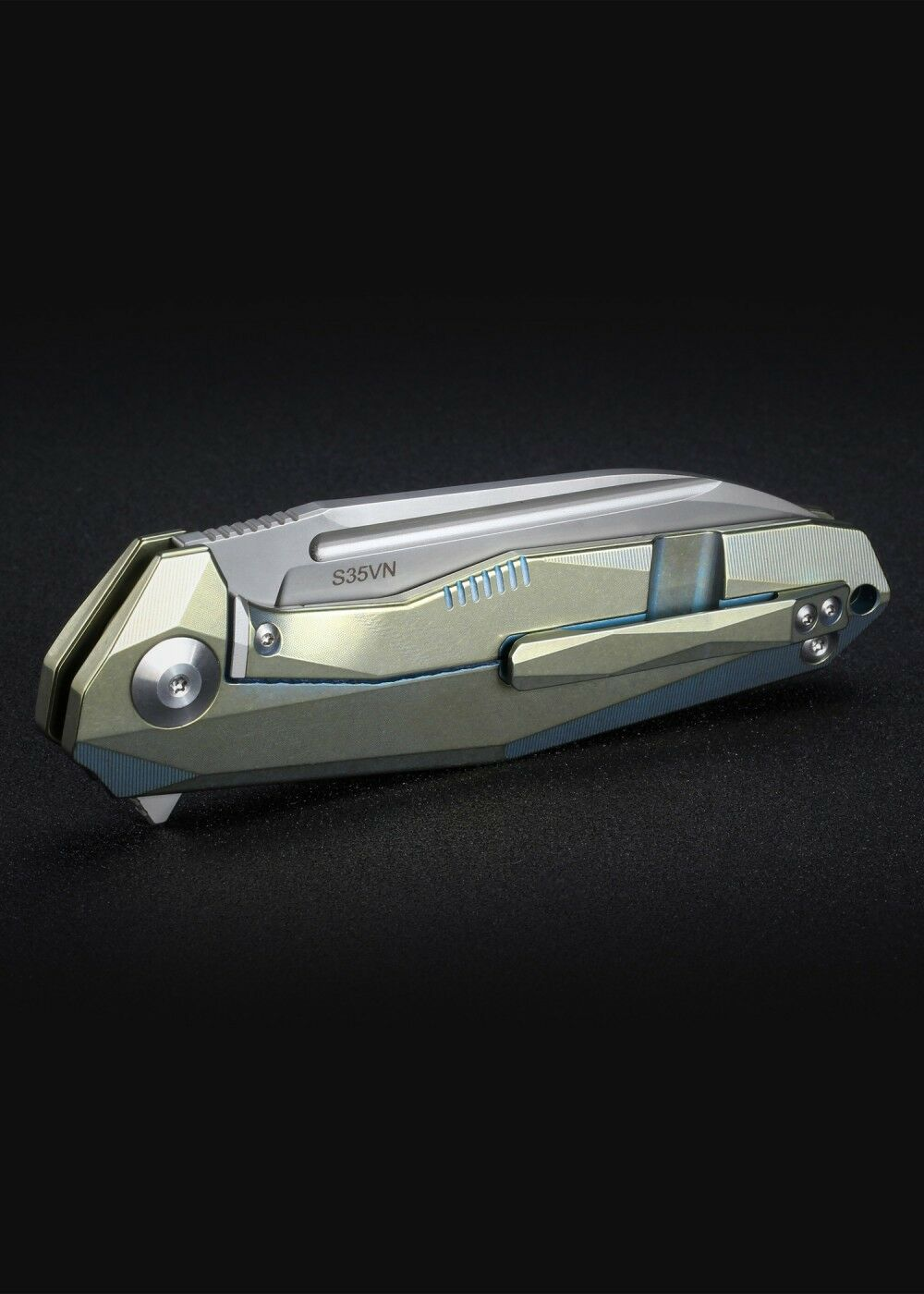 Rikeknife RK1504B-GB Taschenmesser Gold/Blau Klappmesser Klappmesser Gold/Blau Messer 22,3cm 91afbd