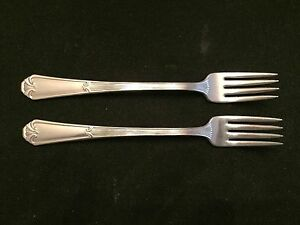 WM ROGERS MFG CO IS 2 SILVERPLATED COCKTAIL FORKS