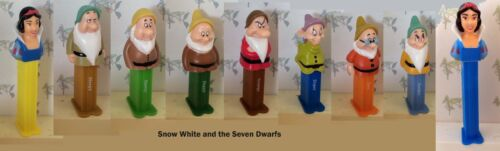 Seven Dwarfs Series Choose Character from Menu PEZ Use for Crafts