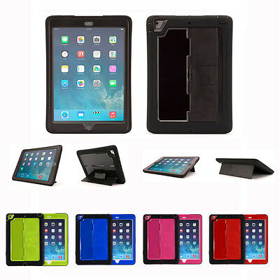 Heavy Duty Tradesman Shock Proof Cover Case for iPad 4 3 2 iPad mini iPad Air 2